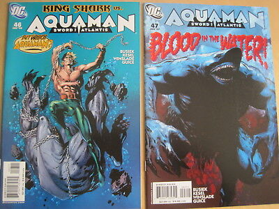 AQUAMAN issues 46,47 : COMPLETE 2 ISSUE KING SHARK STORY ARC by BUSIEK. DC.2006