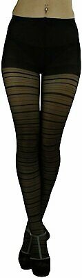 ToBeInStyle Women's Sheer Horizontal Striped Pantyhose