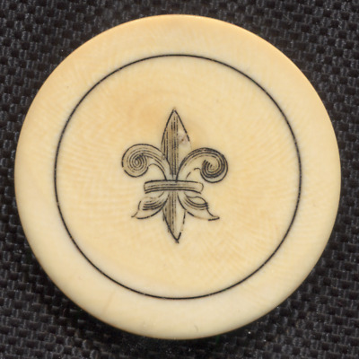 Old West Circa 1800's Antique  Poker Chip