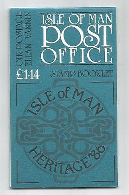 Isle Of Man 1986 £1.14 Heritage Year Booklet Sb15