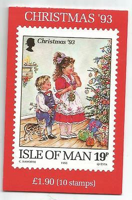Isle Of Man 1993 £1.90 Christmas Booklet Sb35