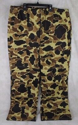 Excellent Vintage Columbia Gore-Tex Waterproof Camo Hunting Pants Size Xl