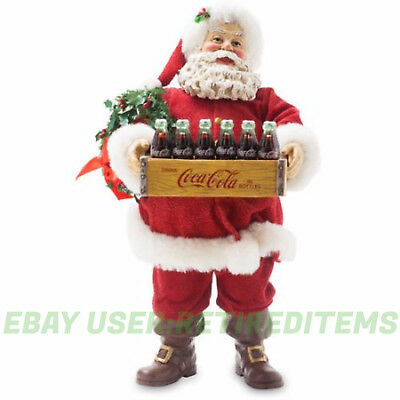 "Kurt Adler Fabriche COCA-COLA SANTA Claus Coke Bottle Crate10.5 Inch "" Christmas"