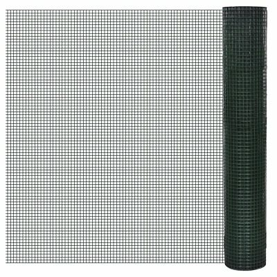 vidaXL 1x25m Galvanised Wire Netting Mesh Pet Poultry Fencing Chicken Coop 19mm