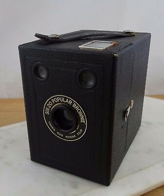 Vintage Kodak Six -20 Popular Brownie Box Camera Made in Gt Britain