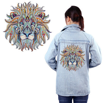 3D Lion Sticker Patch Diy Iron On Transfer Applique Clothes Fabric Craft Classy