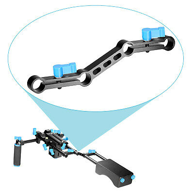 Neewer Z-Shape Bracket Offset Raised for 15mm Rods on DSLR Camera Shoulder Rig