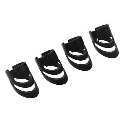 4x Guitar Ukulele Thumb Bass Fingertip Guards Finger Picks Protector Black L