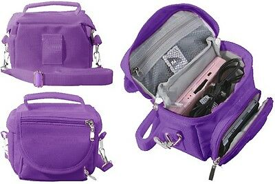 Purple Travel Bag Carry Case For Fuji Fujifilm instax Mini 9 Camera