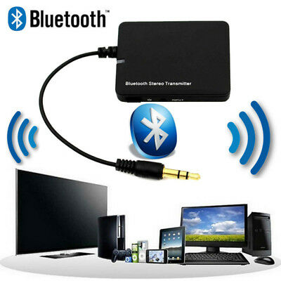 3.5mm Bluetooth A2DP Stereo Audio Adapter Dongle Sender Transmitter für TV PC