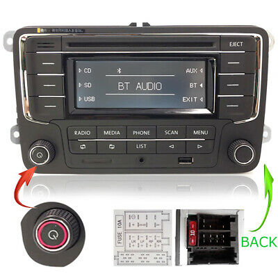 VW Autoradio RCN210 POUR GOLF PASSAT CADDY POLO EOS BLUETOOTH CD SD USB AUX