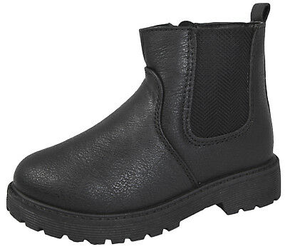 BMS Buckle My Shoe Boys Faux Leather Chelsea Ankle Boots School Shoes Size