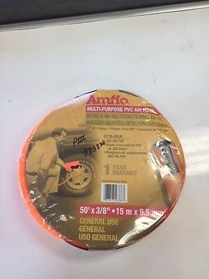 "Amflo 575826 Pvc Air Hose 3/8"" X 50' 300 Psi - New - Made In China"
