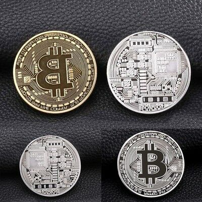 Rare Collectible In Stock New Gold/Silver Iron Bitcoin Commemorative Coin Gifts