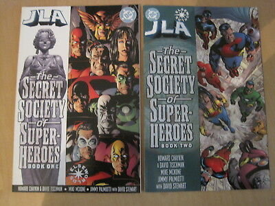 JLA : SECRET SOCIETY of SUPER HEROES :COMPLETE 2 ISSUE SERIES.DC ELSEWORLDS.2000