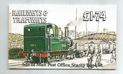 Isle Of Man 1990 £1.74 Railways & Tramways Booklet Sb24