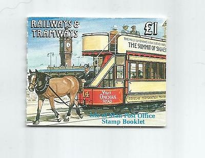 Isle Of Man 1992 £1 Railways & Tramways Booklet Sb29