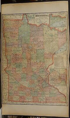 Minnesota State Map 1914 Double Page L15#26