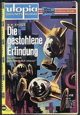 Utopia Zukunftsroman Nr.418 von 1965 Mark Powers - TOP Z1 Science Fiction Pabel