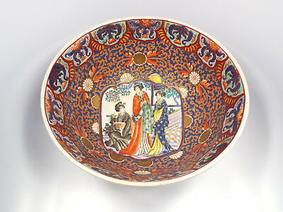 Antique 19th Century Chinese Qing Famille Rose Medallion Bird Phoenix Peony Bowl
