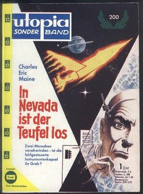 Utopia Grossband Nr.200 von 1960 - TOP Z1 Pabel Science Fiction Roman-Rarität