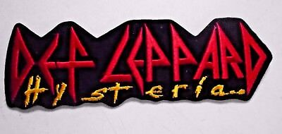 """Def Leppard / Orig. vint. XL iron-on PATCH /Histeria / Exc.+ New cond. / 3 x 9"""""""