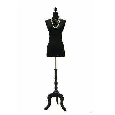 Female Mannequin Dress Form+Black Base Size 2-4 #JF-FWPB-4+BS-ATQ-BK