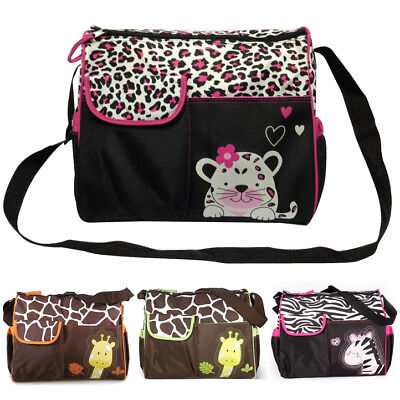 Waterproof Baby Diaper Nappy Mummy Changing Handbag Shoulder Bag with Mat Travel