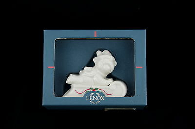 1996 Lenox Porcelain CHRISTMAS Keepsakes ORNAMENT Holiday Teddy Bear On Sled