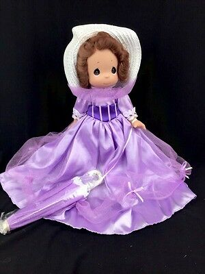 "Precious Moments Mary Poppins 12"" Vinyl  Doll Bouquet Of Beauty Purple"