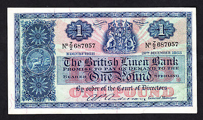 Scotland The British Linen Bank Pound 1955 P. 157d aVF Replacement Note  Z/2