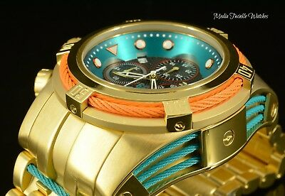 NEW Invicta Reserve 52mm JT Hall of Fame BOLT ZEUS Ltd Ed Quartz Gold Tone Watch