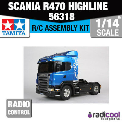 56318 Tamiya Scania R470 Highline 1/14th R/C Radio Control Assembly Model Kit