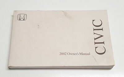 honda civic 02 coupe owners manual booklet book 2002 used rh picclick com 2002 honda civic owner's manual 2002 honda civic ex owners manual pdf
