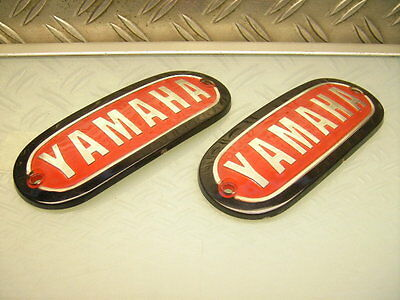 "Neu/new ""yamaha"" Fuel Gas Tank Badge Emblem Xs1 Xs2 / Xs 650 Dt1 Dt2 Rt1 250"