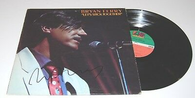 BRYAN FERRY signed (LET'S STICK TOGETHER) RECORD ALBUM LP W/COA