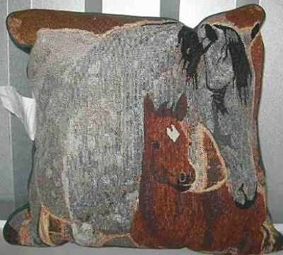 Decorative Pillow MARE & FOAL Horse Pillow CLEARANCE SALE