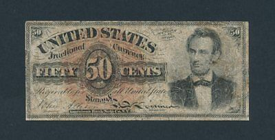 Fr. 1374 Fourth Issue 50c Lincoln Fractional Currency 50 Cents