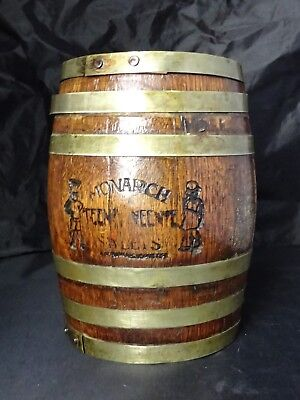 Vtg Monarch Teenie Weenie Sweet Pickles Cask Mini Barrell Keg Murdoch Chicago