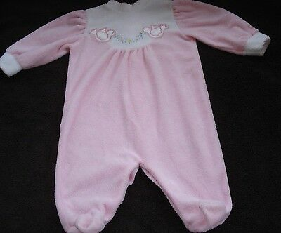Vintage Little Me Pink Infant Footed Sleeper Outfit Doves Size Medium 14-17 Lbs.