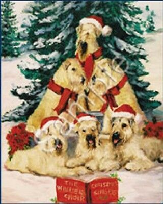 Eight Card Pack WHEATEN TERRIER Dog Breed Christmas Cards