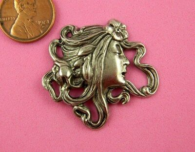 "Vintage Design Antique Silver Plated Brass ""camilla"" Maiden - 1 Pc"