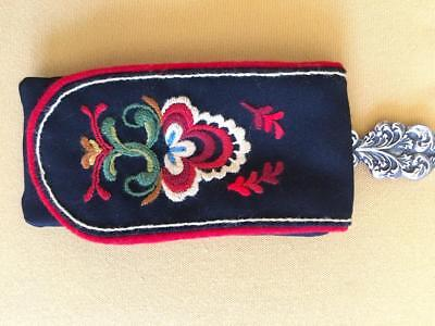 Authentic  Øst Telemark Bunad Norwegian Phone / Sun Glasses / Purse From Norway