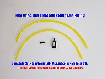 Goped Gas Fuel Lines with Fuel Filter & Return Fitting Go-ped 24 inch FREE SHIP