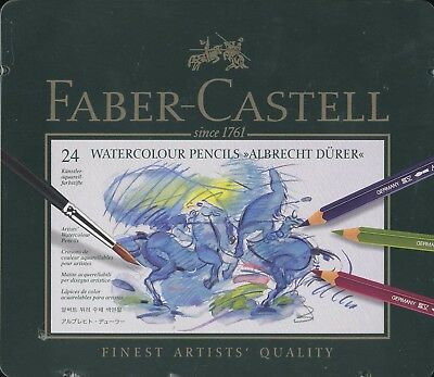 Faber-Castell 24 piece Albrecht Dürer Watercolor Pencils NEW tin case Germany