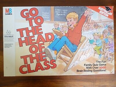Vintage GO TO THE HEAD OF THE CLASS Board Game  Complete Australian Edition