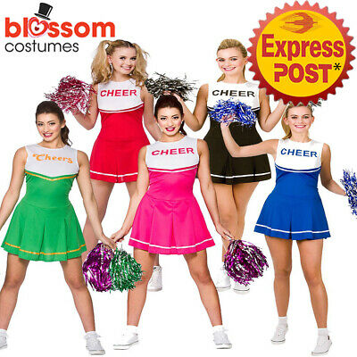 K308 Ladies Cheerleader Costume School Girl Outfit Dress up Cheer Leader Uniform