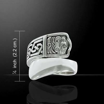 Celtic Silver Spoon Ring inspired by Ancient Irish Art - Size Select