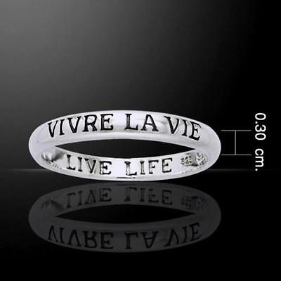 Vevre La Vie - Living the Life Silver Ring - Empowering Words Collection