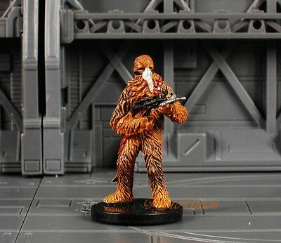 WOTC Star Wars Miniature Minis Universe Rebel Chewbacca Fearless Scout K412